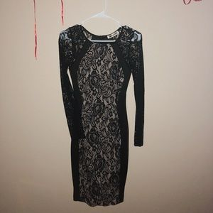 Black Lace Chic Bodycon Dress